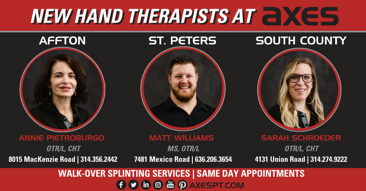 Hand therapists in Affton, South County, and St. Peters.